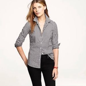 J. Crew The Perfect Shirt gingham button down